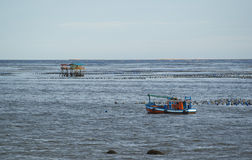 在海的渔船 免版税图库摄影