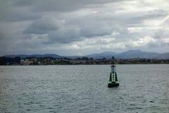 在海的烽火台 库存照片