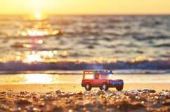 在海的玩具 免版税图库摄影