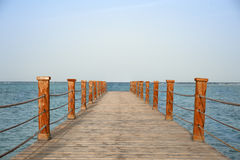 在海的码头 免版税库存照片