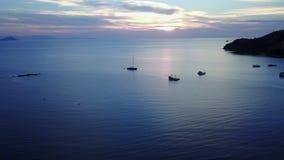 在海的美好的日出英尺长度 影视素材