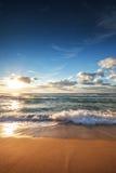 在海的美好的cloudscape,日出射击 免版税库存图片