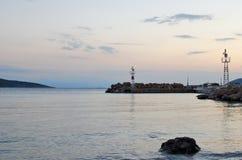在海的镇静早晨 库存图片