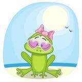 在海的青蛙 免版税库存照片