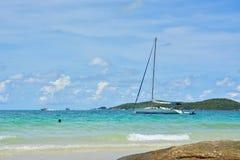 在海的风船 免版税库存图片