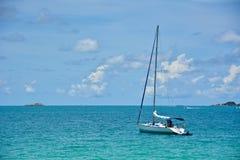 在海的风船 库存照片