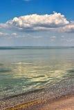 在海的晴天 库存照片