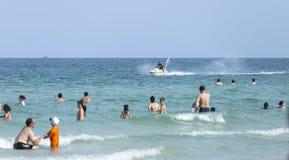 在海的Khem假日靠岸, Phu Quoc 库存照片