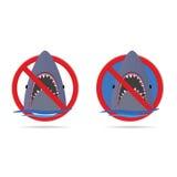 在海第四部分的鲨鱼 库存图片
