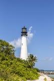 在海角佛罗里达的著名灯塔在Key Biscayne 库存图片
