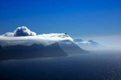 在海角好希望的云彩 库存照片