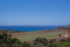 在海角格雷科的地中海风景 免版税库存图片