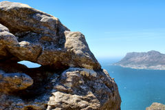 在海角点的看法从表山 库存照片