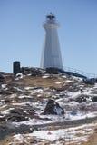 在海角矛,纽芬兰与拉布拉多的灯塔 库存照片