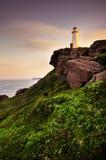 在海角矛,纽芬兰的灯塔 库存图片