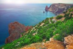 在海角Fiolent的海岸 克里米亚 免版税库存照片