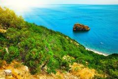 在海角Fiolent的海岸 克里米亚 库存照片