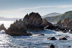在海角Laplas的峭壁 库存照片