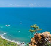 在海角Martyan储备的克里米亚半岛风景 免版税库存图片