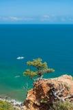在海角Martyan的美好的克里米亚半岛风景 免版税库存照片