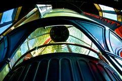 在海角Meares,俄勒冈灯塔里面的菲涅耳灯 免版税库存照片