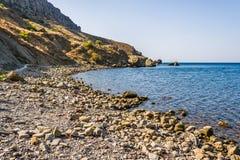 在海角Meganom附近在克里米亚 图库摄影