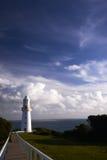 在海角Otway维多利亚Austraia的灯塔 库存图片