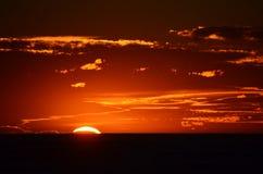 在海角Palliser的日落 免版税库存照片