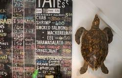 从在海边旁边的鲜鱼 免版税库存照片