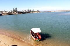 在海边的小船 库存照片