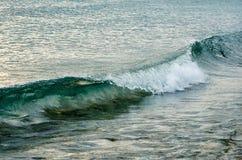 在海边,贝加尔湖的波浪在12月 库存图片