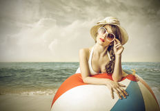 在海边 免版税库存图片