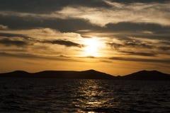 在海运日落的亚得里亚 库存图片