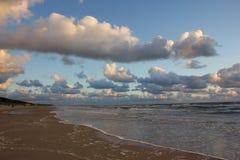 在海运日落的波罗地 免版税库存照片