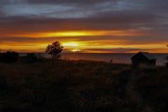 在海运日落的波罗地 库存照片