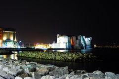 在海运的城堡在那不勒斯 库存图片