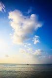 在海运的好的日落 phangan的酸值 库存照片