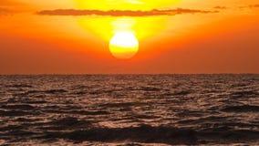 在海运的日出 图库摄影