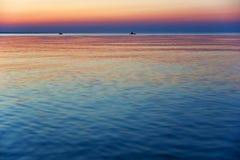 在海运的日落 免版税库存图片
