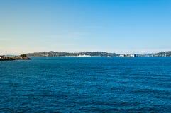 在海运的晴天 免版税图库摄影