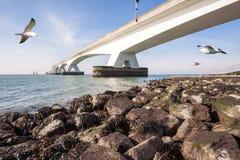 在海运的桥梁 库存照片