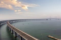 在海运的桥梁 免版税图库摄影