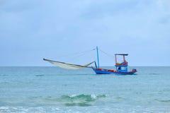 在海运的渔船 免版税图库摄影