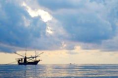 在海运的渔船 图库摄影