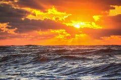 在海运的美好的cloudscape 免版税库存图片