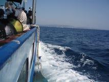 在海运的船 免版税库存照片