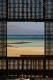 在海运的视窗 库存图片
