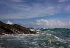 在海运的风暴 免版税库存照片