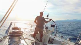 在海运的风船 影视素材