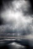 在海运的风暴在雨以后 免版税库存照片